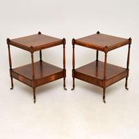 Pair of Antique Georgian Style Yew Wood Side Tables (12 of 14)