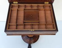 Rare 19th Century Marquetry Inlaid Irish Killarney Work Box or Table (12 of 13)