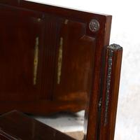 Dressing Table Mahogany Mirror Victorian Greek Key Frieze (4 of 9)