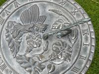 Large' Victorian Style' 3 Cherubs Stone Sundial Fairy Brass Top Timepiece (6 of 29)