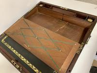 Antique Mahogany Brass Bound Campaign Writing Slope Box (9 of 17)