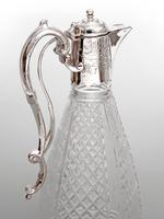 Silver Plated Claret Jug with a Spring Action Operated Hinged Lid (3 of 4)