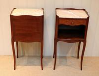 Pair of French Mahogany Inlaid Bedside Cabinets (7 of 10)