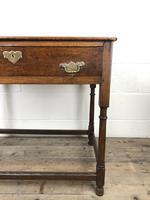Antique 19th Century Oak Lowboy Side Table (7 of 11)