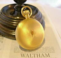 Vintage Swiss Waltham Pocket Watch 1970s 17 Jewel 12ct Gold Plated Half Hunter FWO (8 of 12)
