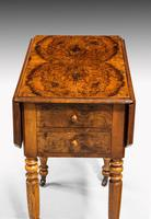 Early 19th Century Small Walnut Pembroke Work Table (4 of 5)