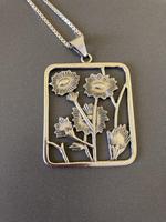 Danish Silver Pendant 1960s by Christian Veilskov