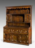 Mid 18th Century Oak Dresser & Rack (3 of 8)