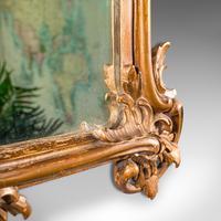 Small Antique Vanity Mirror, Italian, Giltwood, Dressing, Victorian c.1890 (9 of 10)