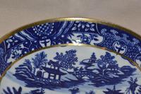 Worcester Porcelain Teabowl and Saucer 'Bandstand' Pattern 1780-90 (3 of 12)