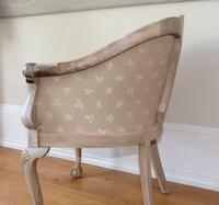 Pair of Late 19th Century French Part Upholstered Painted Tub Chairs (20 of 23)