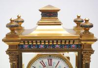 Antique French Table Regulator with Compensating Pendulum 8 Day 4 Glass Mantel Clock (8 of 12)