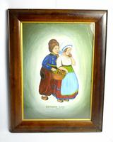 Early 20th Century Dutch Comical oil on canvas by H Rowbotham (5 of 12)