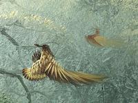 20th Century English Oil Painting Hunting Setter Dog & Pheasants in Flight L Eiford (6 of 10)
