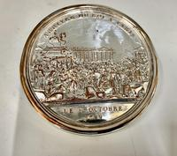 Antique 19th Century French Silver Plated Snuff Box Siege of the Bastille Snuff Box (4 of 6)