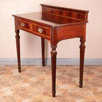 Edwardian Inlaid Mahogany 2 Drawer Side Table (10 of 15)