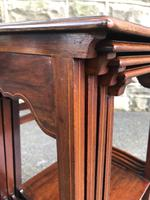 Edwardian  Inlaid Mahogany Nest 4 Tables (5 of 12)