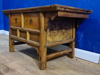 Chinese 19th Century Elm Altar Prayer Coffee Table 'Qing Dynasty' (4 of 8)