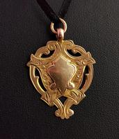 Vintage Art Deco 9ct Gold Shield Fob (5 of 9)