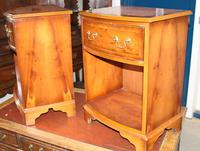 1960s Pair Yew Wood Bedsides Cabinets (3 of 4)