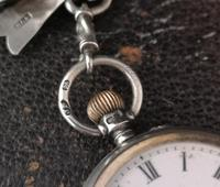 Victorian silver and enamel pocket watch, ladies (2 of 2)