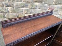 Pair of Antique Oak Open Bookcases (5 of 10)