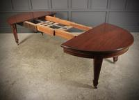 Large Inlaid Mahogany Extending Dining Table (12 of 20)