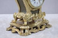 French Rococo Style Bronze Gilt Mantel Clock (4 of 9)