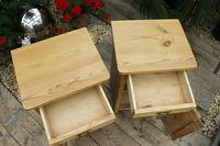 Fantastic & Large Pair of Old Stripped Pine Bedside Cabinets - We Deliver! (6 of 9)