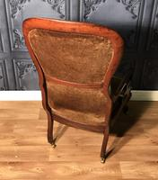 Victorian Mahogany Scroll Arm Nursing Chair (9 of 9)