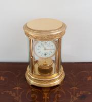 French Claude Grivolas Oval Cased 400 Day Torsion Mantle Clock c.1900 (2 of 8)