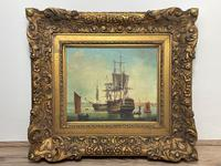 Seascape Oil Painting First Rate Man O War Ships Portsmouth Harbour Signed Brian Coole (5 of 39)