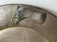 Large Danish Sporting Victorian 19th Century Danish Silver Plate Salver (12 of 31)