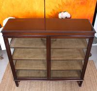 Glazed Bookcase Display Cabinet Edwardian Mahogany (9 of 9)