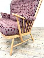 Vintage Ercol Evergreen Two Seater Sofa & Armchair (4 of 10)