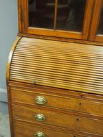 George III Inlaid Mahogany Cylinder Cabinet Bookcase (5 of 17)