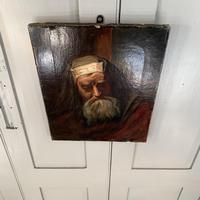 Antique oil painting portrait of a Jewish Rabbi (5 of 10)