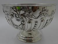 Antique Victorian Silver Bowl Chester 1896