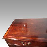 George III Cross Banded Mahogany Chest (3 of 7)