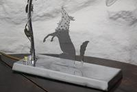 Art Deco Chrome Fox Table Lamp (9 of 10)
