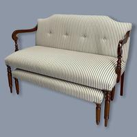 Regency Occasional Sofa with Footstool (8 of 9)