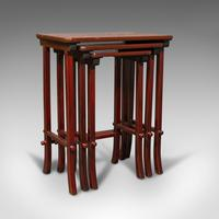 Antique Nest of 3 Occasional Side Tables, Oriental, Japanned, Victorian c.1900 (3 of 12)