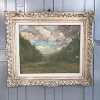 Antique Impressionist study in oil on canvas by Albert de Belleroche (5 of 11)