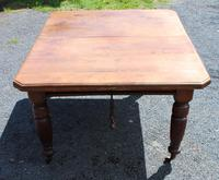 1920's Mahogany Dining Table with 2 x Leaves and Handle (4 of 6)