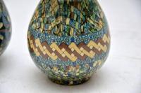 1960's Pair of Vallauris Ceramic 'Mosaic' Vases by Jean Gerbino (6 of 10)