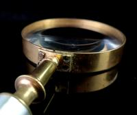 Antique Victorian Magnifying Glass, Cased, Mother of Pearl (8 of 12)