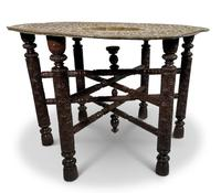 North African Folding Brass Tray Table (4 of 9)