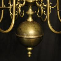 English Pair of 6 Light Antique Chandeliers (7 of 10)