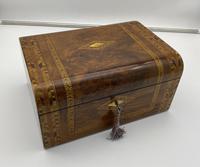 Victorian Inlaid Walnut & Tunbridge Ware Jewellery Box (8 of 14)