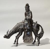 19th Century Chinese Bronze Figure Zhang Guolao on an Ass (9 of 11)